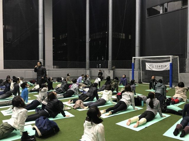 Yoga for Athletes@渋谷ストリームTORQUE SPICE & HERB, TABLE & COURT