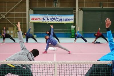 テニス×ヨガ